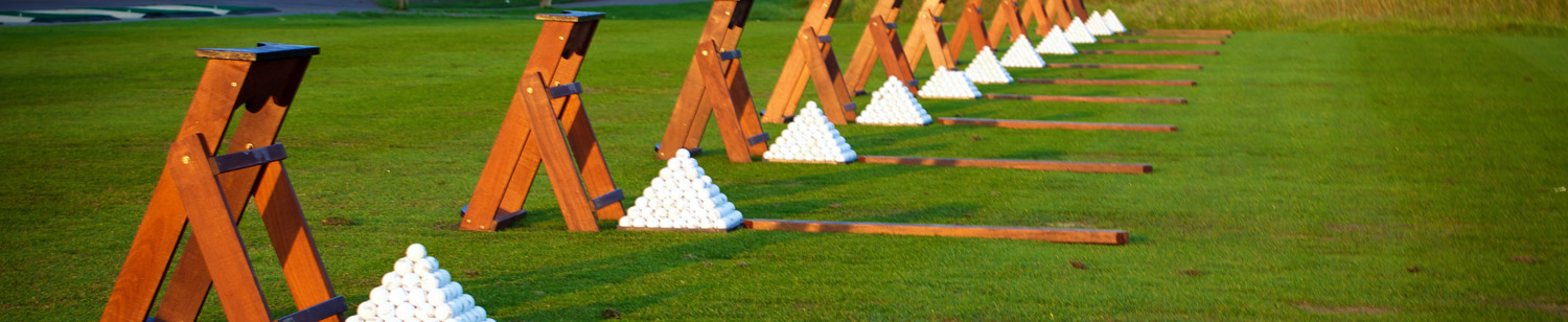 Practice range at the Golf Shop